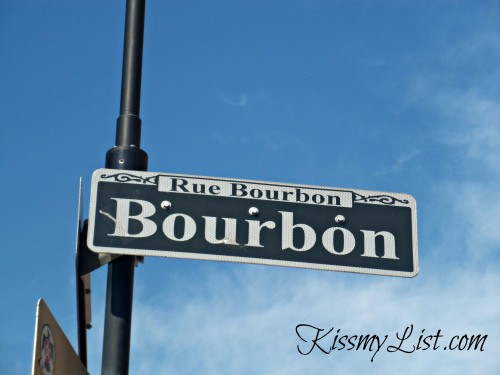The most well known street name in the French Quarter...