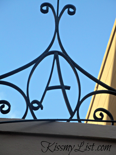 This architectural detail was on the top of a gated entry - no imagination needed here!