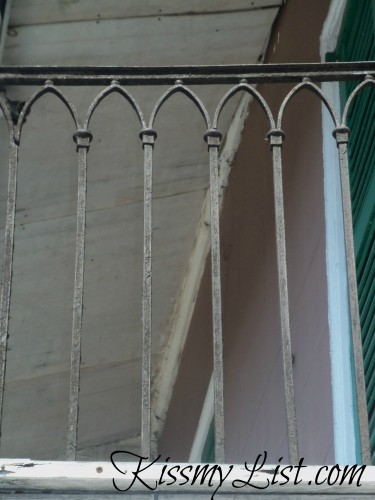 Here is a wrought iron fence that has a few possibilities...