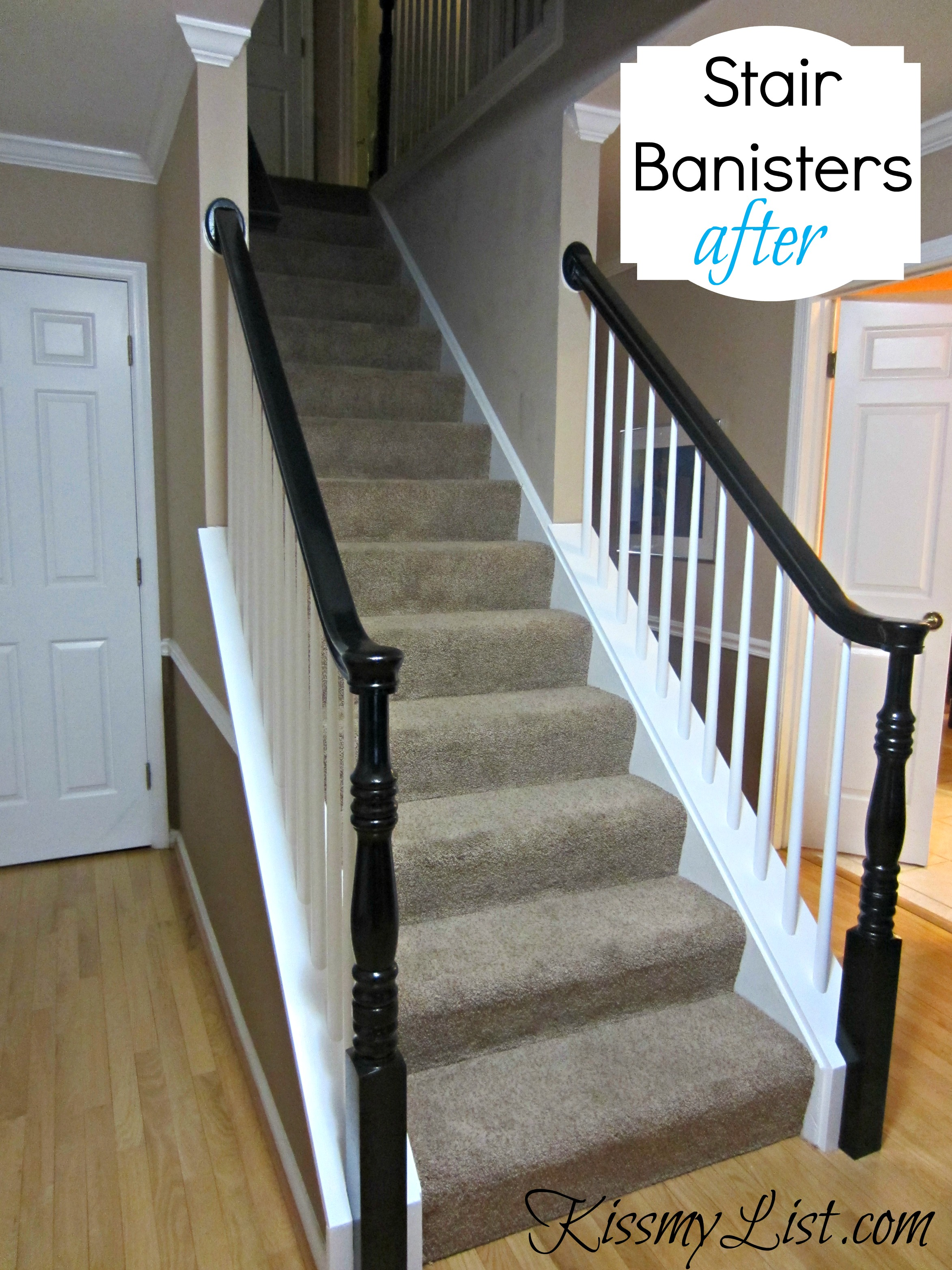 White Painted Stair Risers