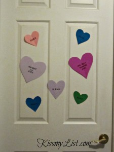 I have been decorating my kidsu0027 doors for the past four years u2013 this Valentine craft is the extent of my Martha Stewart-ness. Here are their doors ... & Easy Valentine Door Decoration Craft