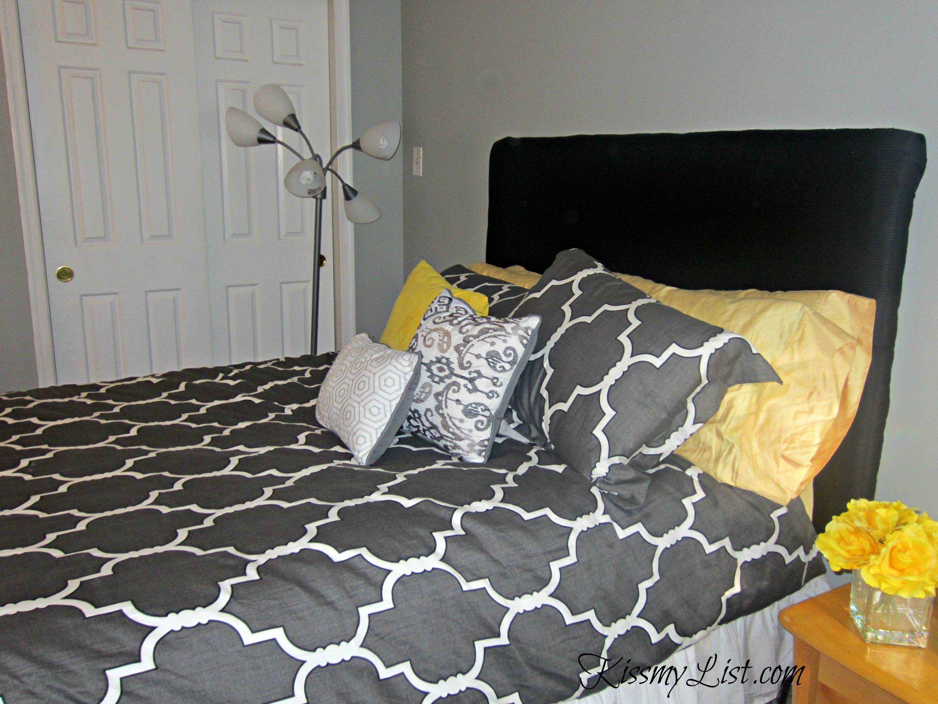 DIY Upholstered Headboard | Kiss my List